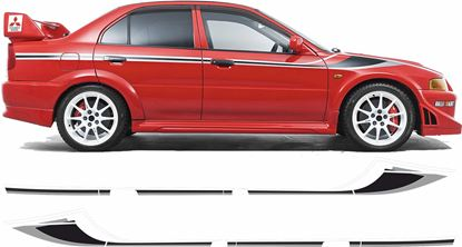 Picture of Mitsubishi Lancer Evolution  6 Tommi Makinen side Stripes  / Stickers