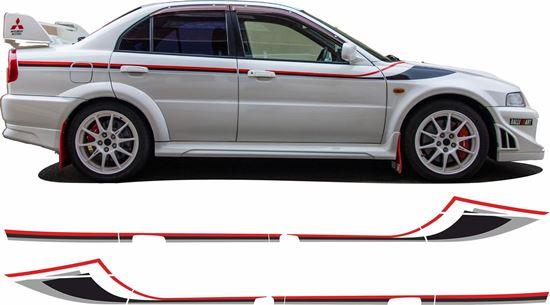Picture of Mitsubishi Lancer Evolution  6 Tommi Makinen side Stripes  / Stickers
