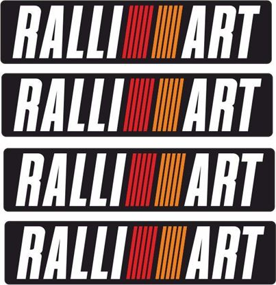 "Picture of Mitsubishi Evolution 6  Tommi Makinen ""RALLIART"" Bumper Decals / Stickers"
