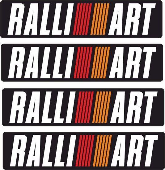 "Picture of Mitsubishi Evolution 6  Tommi Makinen ""RALLIART"" Bumper Decals / Stickers"