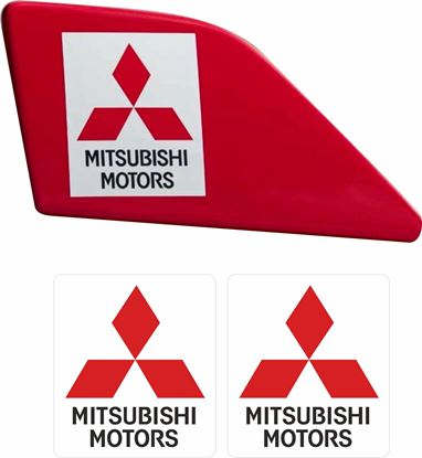 Picture of Mitsubishi Evolution 6 Tommi Makinen rear Wing Decals / Stickers