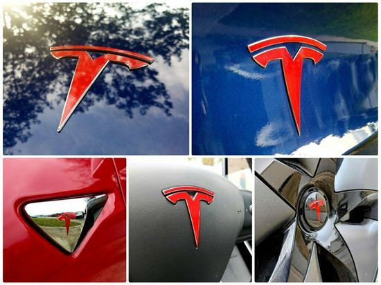 Picture of Tesla Model 3 Badge  overlay Decals / Stickers