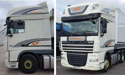Picture of DAF XF Euro 6 Super spacecab full Stripe / Graphics Livery / Stickers