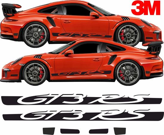 Picture of Porsche 911 / 991 GT3 RS side Stripes / Sticker 3M SCOTCHCAL