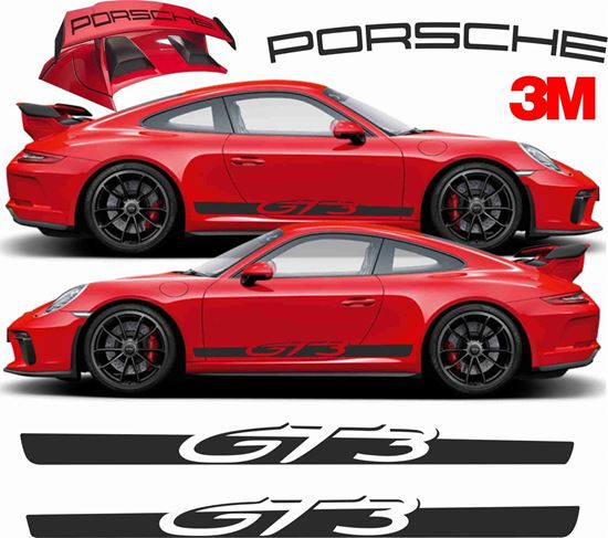 Picture of Porsche 991 GT3  side Stripes & Rear wing Decals  / Stickers 3M SCOTCHCAL