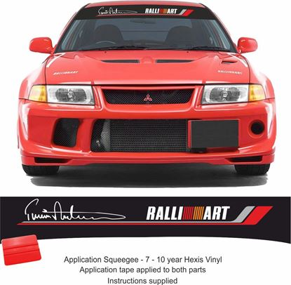 Picture of Mitsubishi Evolution Makinen Sun strip Decal / Sticker (Fits all Evos)