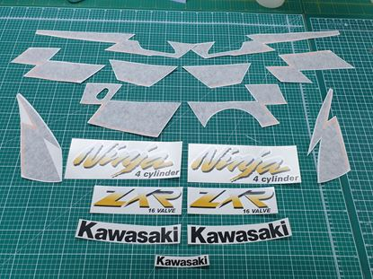 Picture of Kawasaki Ninja ZXR 250 1993 - 96 replacement Decals / Stickers