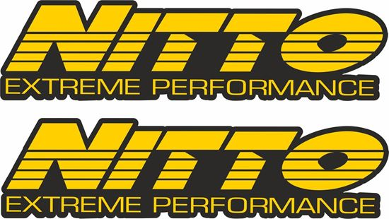 """Picture of """"Nitto Extreme Performance"""" Decals / Stickers"""