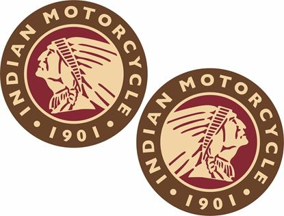 Picture of Indian Motorcycle 1901 Decals / Stickers
