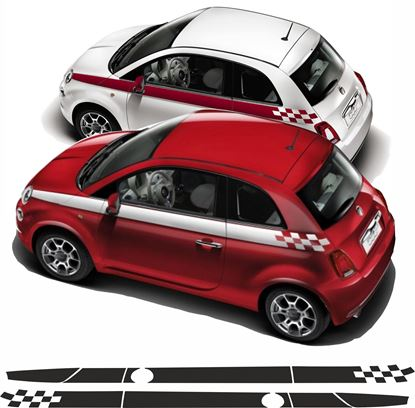 Picture of Fiat 500 / 595 side Stripes / Stickers FACTORY FIT
