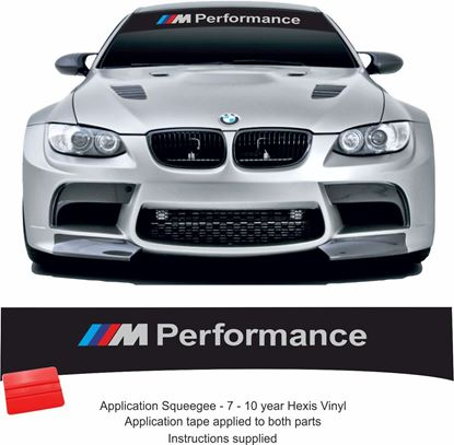 "Picture of BMW ""M Performance"" Sunstrip  / Sticker  (fits all)"