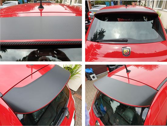 Picture of Fiat 595 rear Spoiler wing Vinyl overlay