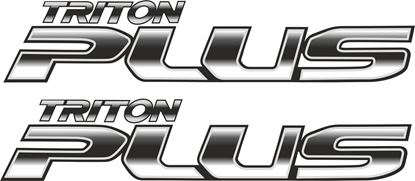 Picture of Mitsubishi L200 Triton Plus 2015 - 20 side replacement Decals / Stickers
