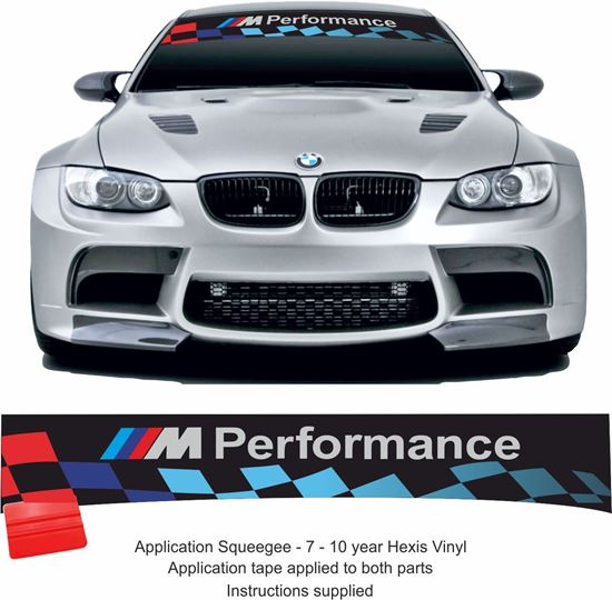 """Picture of BMW """"M Performance"""" Sunstrip  / Sticker  (fits all)"""
