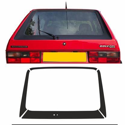 Picture of Golf MK1 rear Hatch Textured Black Vinyl 4 piece Surround & Swage Line