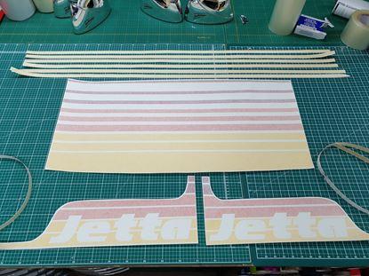 Picture of VW  MK2 Jetta Kamei Style Bonnet & side Stripes