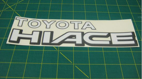 Picture of Toyota Hiace replacement rear Decal / Sticker