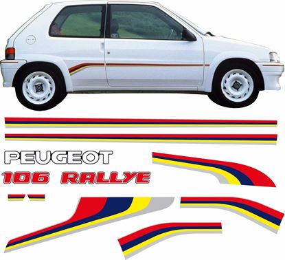 Picture of Peugeot 106 Rallye S1 replacement  Stripes & Decals
