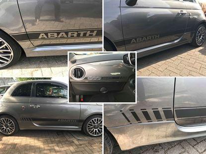 Picture of Fiat 595 Abarth Dash  & side  Stripes / Stickers CARBON FIBRE
