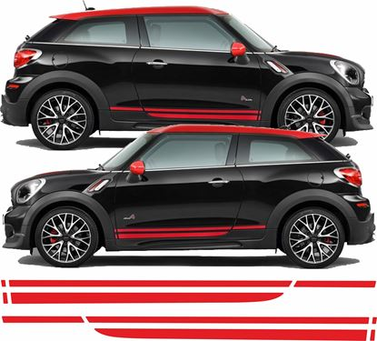 Picture of Mini R61 Paceman Cooper S / JCW Dual Sport side Stripes / Stickers