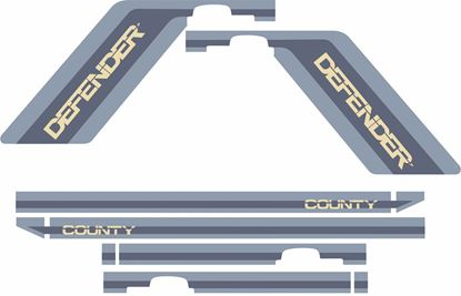 Picture of Defender 110 County  5 Door side Stripes Decals / Stickers