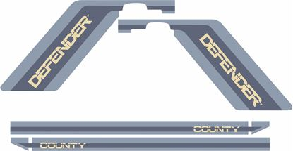 Picture of Defender 90 County side Stripes Decals / Stickers