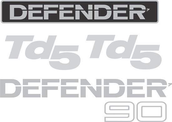 Picture of Land Rover Defender 90 TD5 replacement Decals / Stickers