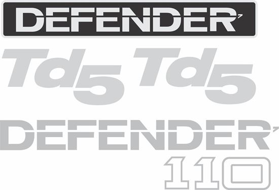 Picture of Land Rover Defender 110 Td5 replacement Decals / Stickers