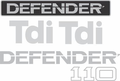 Picture of Land Rover Defender 110 Tdi replacement Decals / Stickers