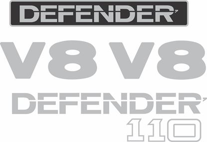Picture of Land Rover Defender 110 V8 replacement Decals / Stickers