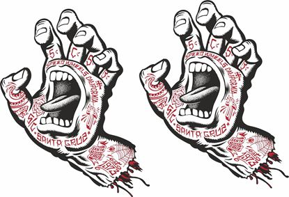 Picture of Santa Cruz Screaming Hand  Decals / Stickers
