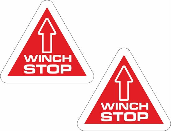 "Picture of ""Winch Stop""  Decals / Stickers"