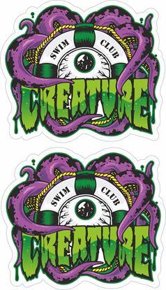 Picture of Creature Swim Club Decals / Stickers