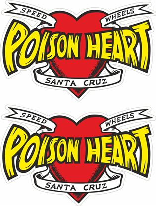 Picture of Santa Cruz Poison Heart Decals / Stickers