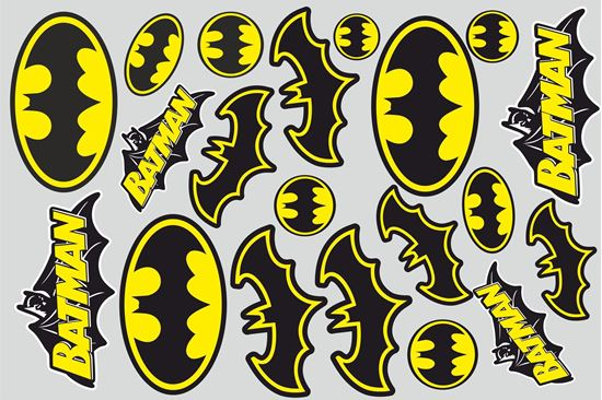 Picture of Batman Track and street race sponsor Sticker Sheet