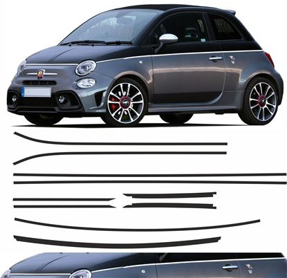 Picture of Fiat 500 / 595 Two Tone Paint Pin Stripes / Stickers FACTORY FIT