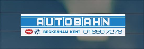 Picture of Autobahn - Beckenham Kent Dealer rear glass Sticker