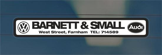 Picture of Barnet & Small - Farnham Dealer rear glass Sticker