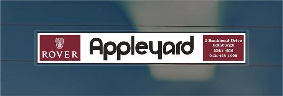 Picture of Appleyard - Edinburgh Dealer rear glass Sticker