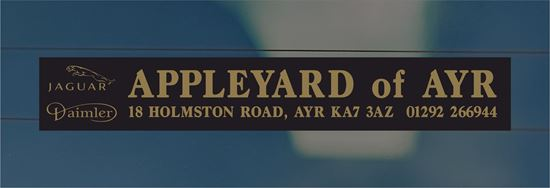 Picture of Appleyard of AYR Dealer rear glass Sticker