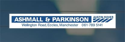 Picture of Ashmall and Parkinson - Manchester Dealer rear glass Sticker