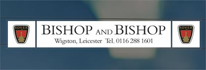 Picture of Bishop and Bishop - Leicester Dealer rear glass Sticker
