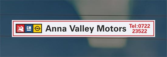 Picture of Anna Valley Motors  Dealer rear glass Sticker