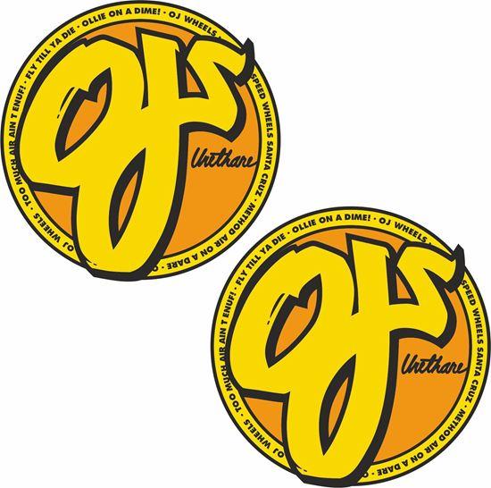 Picture of OJS Wheels Santa Cruz Decals / Stickers