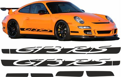Picture of Porsche 997 GT3 RS side Stripes / Stickers PANEL FIT NO CUTS