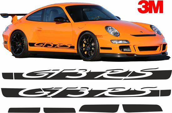 Picture of Porsche 997 GT3 RS side Stripes / Stickers 3M SCOTCHCAL