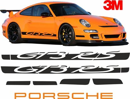 Picture of Porsche 997 GT3 RS side Stripes & Wing  Sticker 3M SCOTCHCAL