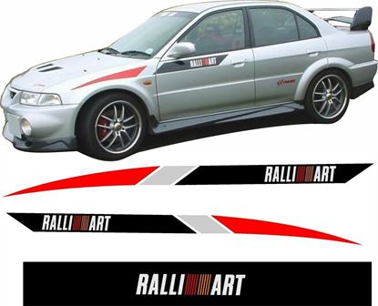 Picture of Mitsubishi Lancer Evolution 4 / 5 / 6 Ralliart Stripes  / Stickers