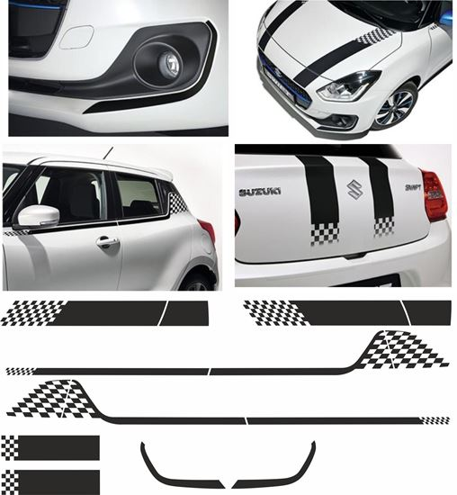 Picture of Suzuki Swift 2006 - 17 full Graphics / Stickers kit
