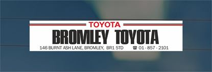 Picture of Bromley Toyota- Bromley Dealer rear glass Sticker